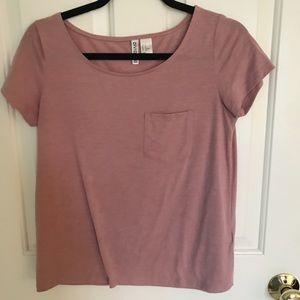 H&M Light pink short sleeve shirt w/ front pocket